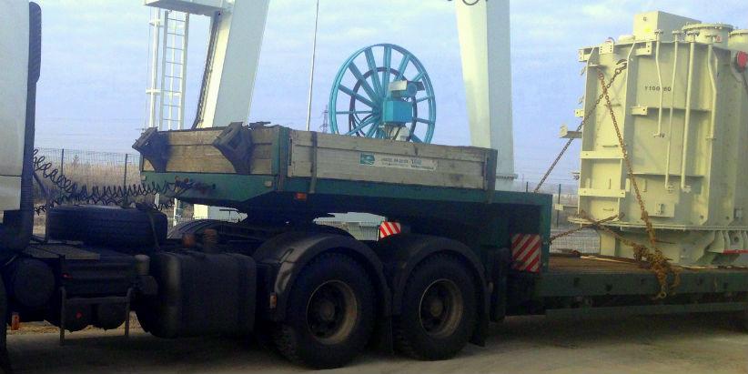 Негабаритная перевозка трансформатора 110 т.