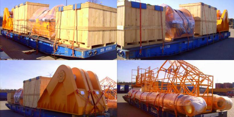 Негабаритная перевозка судового крана