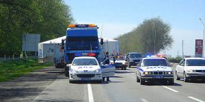 обеспечение машин прикрытия и машин сопровождения ГИБДД во время перевозки