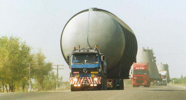 Oversized processing equipment transportation to Turkmenistan