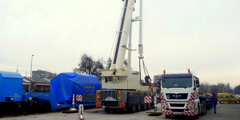 Железнодорожная перевозка двигателя для Нововоронежской АЭС