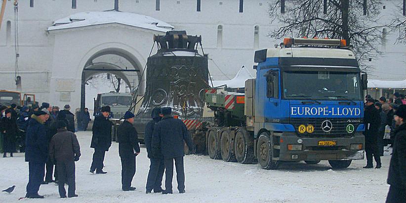 Перевозка колоколов для Троице-Сергиевой Лавры
