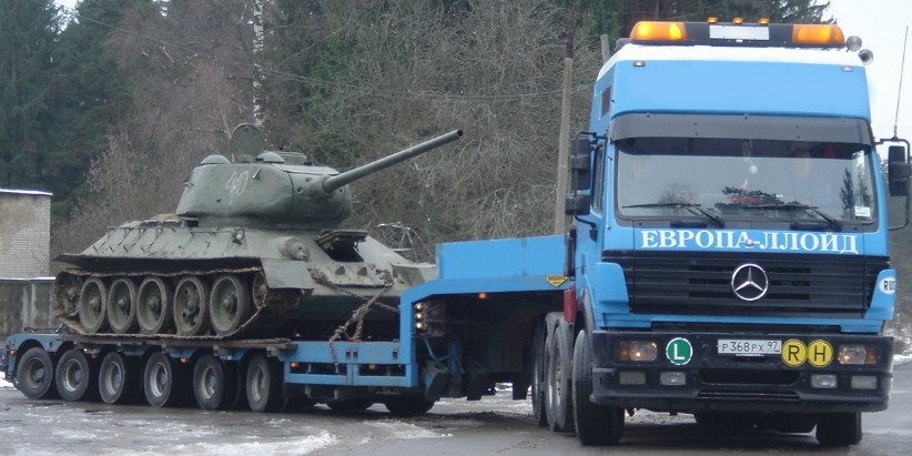Негабаритная перевозка танков
