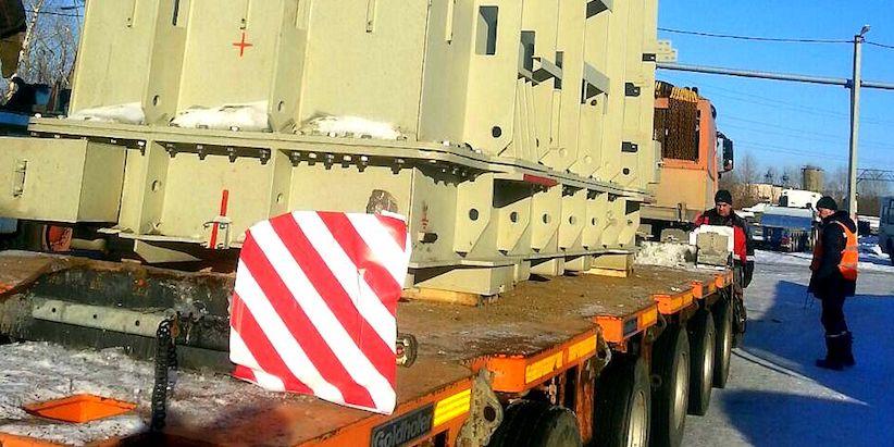 Перевозка четырех комплектов трансформаторов