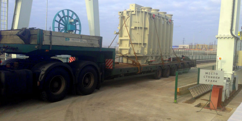 Transportation of the oversized transformer, 110 t