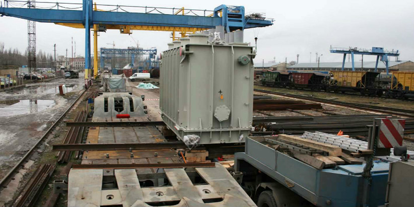 Transportation of oversized and heavy transformer