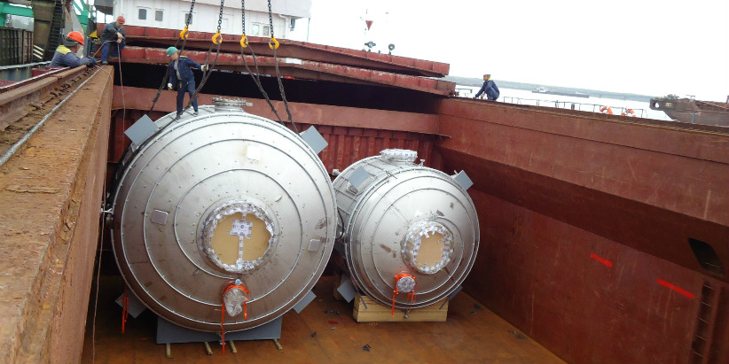 Transportation of the oversized cargo for chemical industry